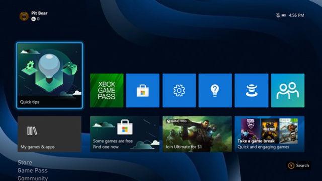dasboard unificata Xbox