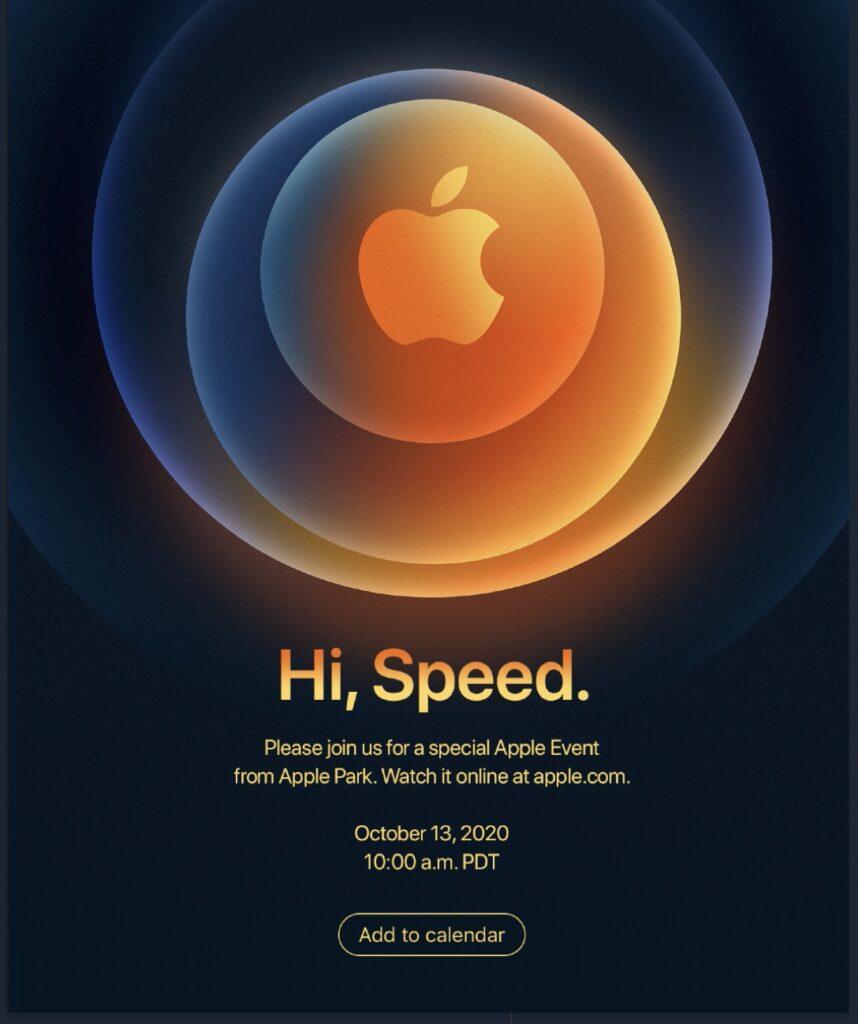 Ufficiale l'evento Hi Speed: i nuovi iPhone 12 arriveranno la prossima settimana 1