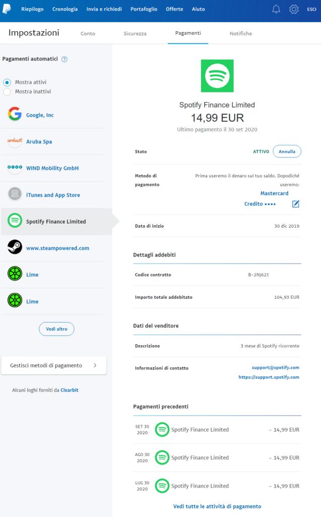 pagamenti automatici paypal