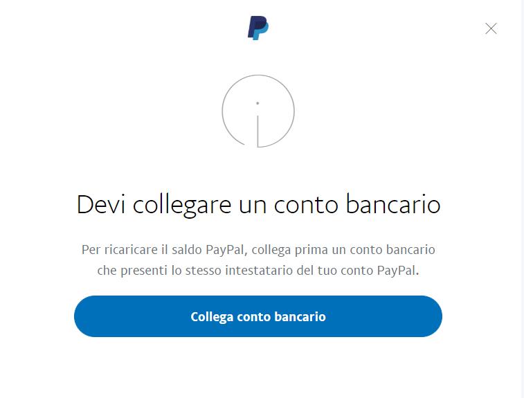 ricaricare conto PayPal