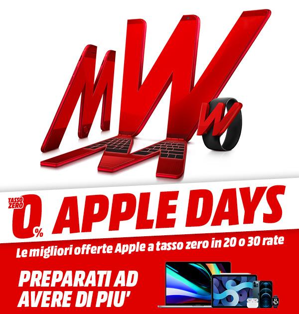 offerte mediaworld apple days