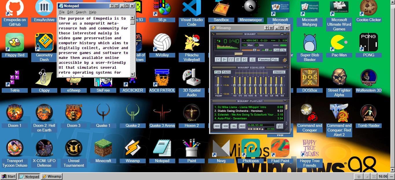 EmuOS emula i vecchi sistemi operativi con software e giochi retro 1