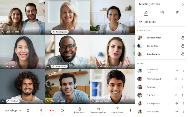 Google Meet introduce l'alzata di mano virtuale nelle riunioni 1