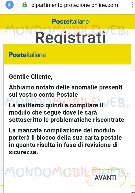 phishing truffa poste italiane