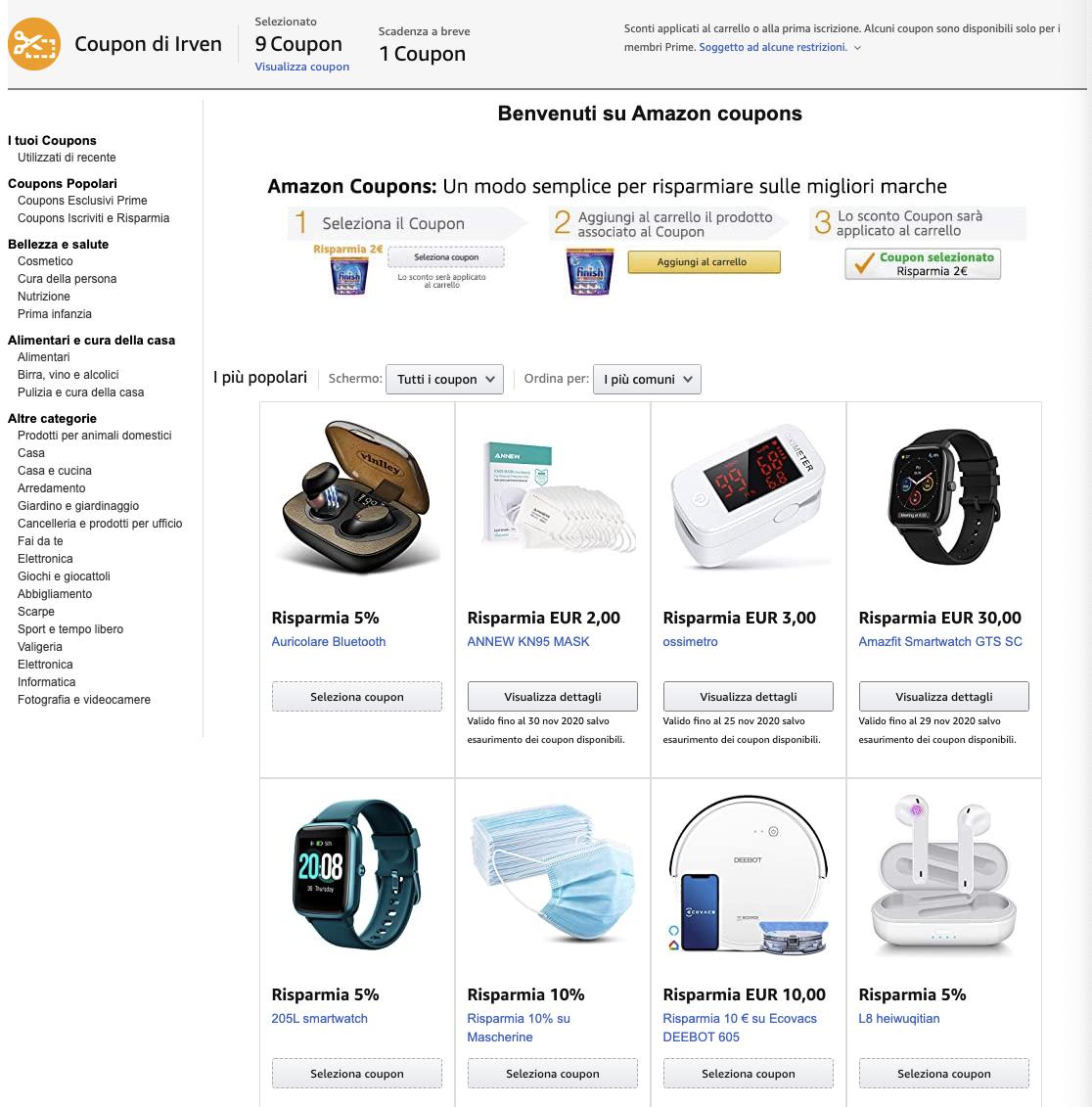 Si chiama Amazon Coupons la nuova iniziativa per i clienti Prime 1