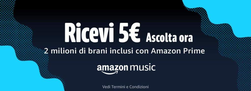 amazon music 5 euro ascolto brano 31 gennaio 2021