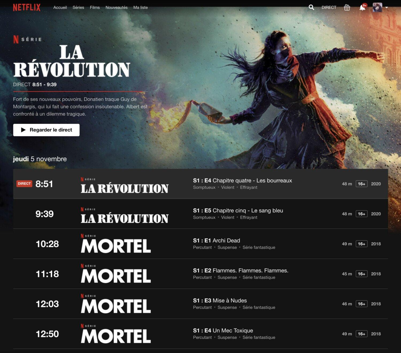 In Francia si può guardare Netflix in diretta, come se fosse un canale TV qualsiasi 1