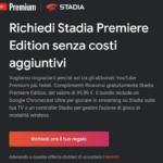 Google Stadia in regalo ai fedeli di YouTube Premium: come ottenerla 1