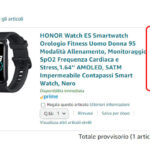 honor watch es offerta amazon