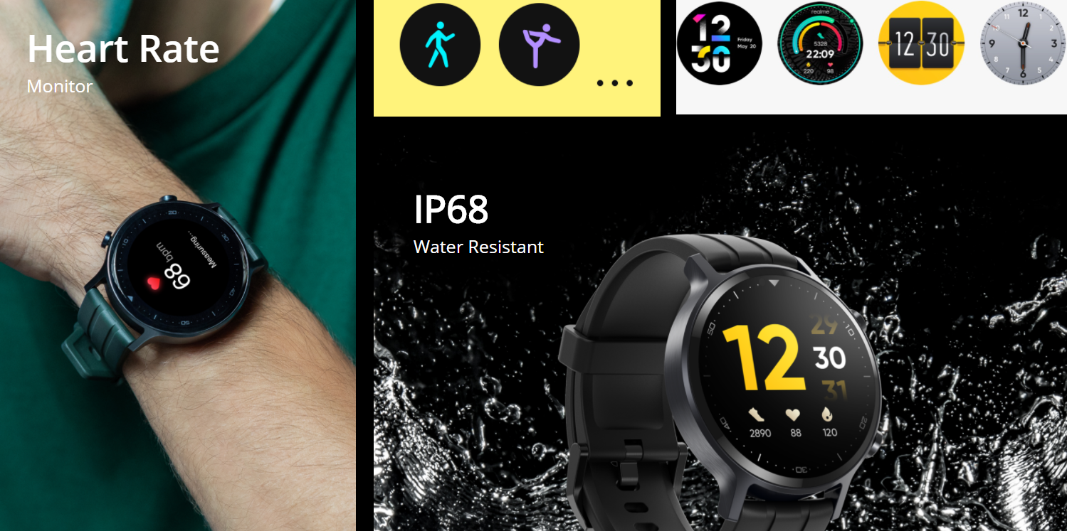 Realme Watch S ufficiale con display e batteria migliori e monitor SpO2 1