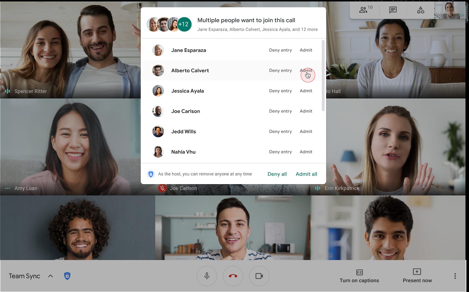 """In rollout il tasto """"Accetta tutti"""" su Google Meet: le riunioni, così, sono più agili 1"""