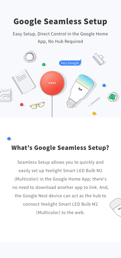 yeelight smart led bulb m2 google seamless setup