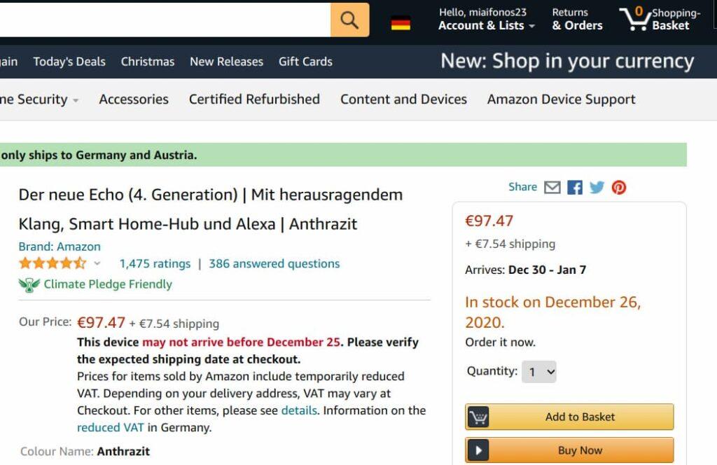 Amazon EU, non sempre gli articoli vengono spediti in Italia