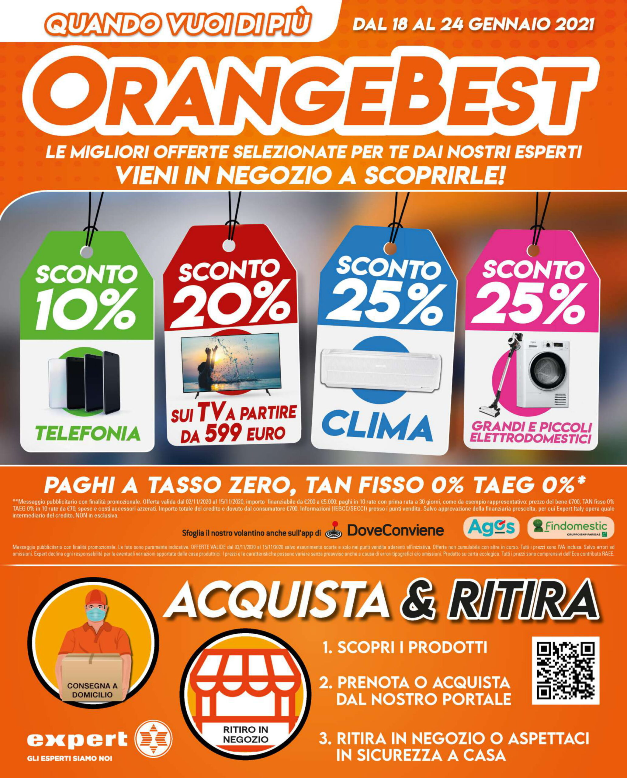 Ecco le migliori offerte del volantino OrangeBest di Expert (18-24 gennaio) 1