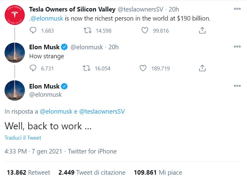Elon Musk è l'uomo più ricco del mondo: superato Bezos di Amazon 1