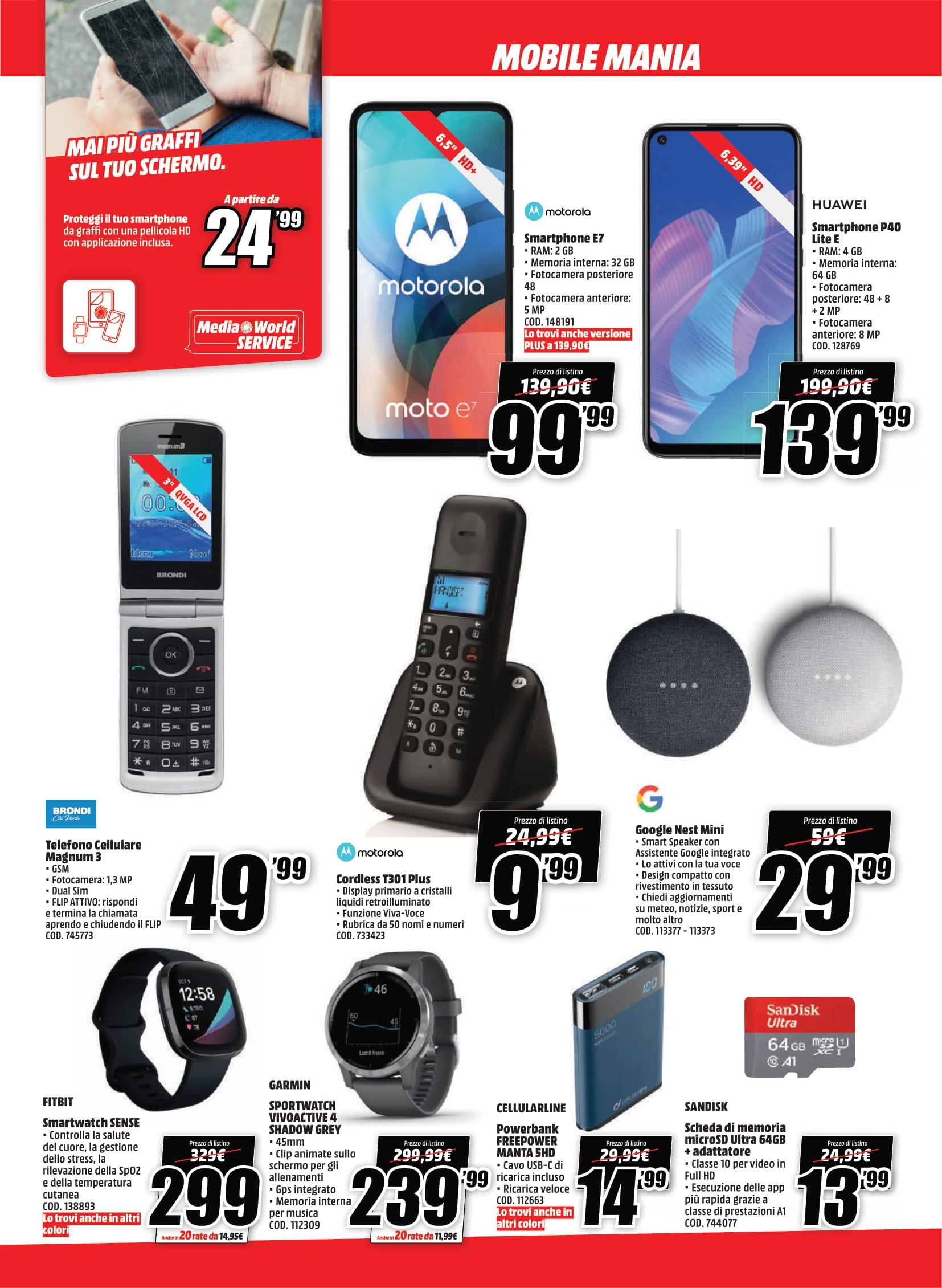 offerte mediaworld mobile mania