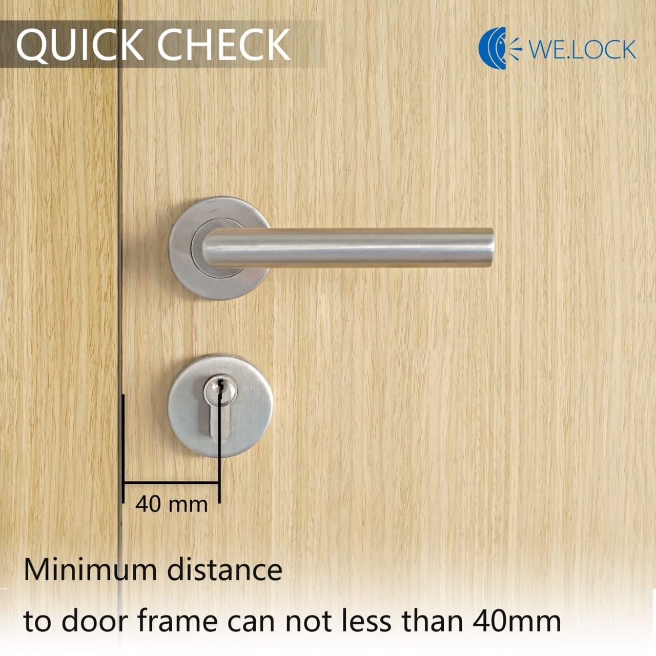 Con le serrature intelligenti WE.LOCK le porte si aprono con un dito 6