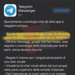 telegram 7.4 aggiornamento migrazione chat whatsapp