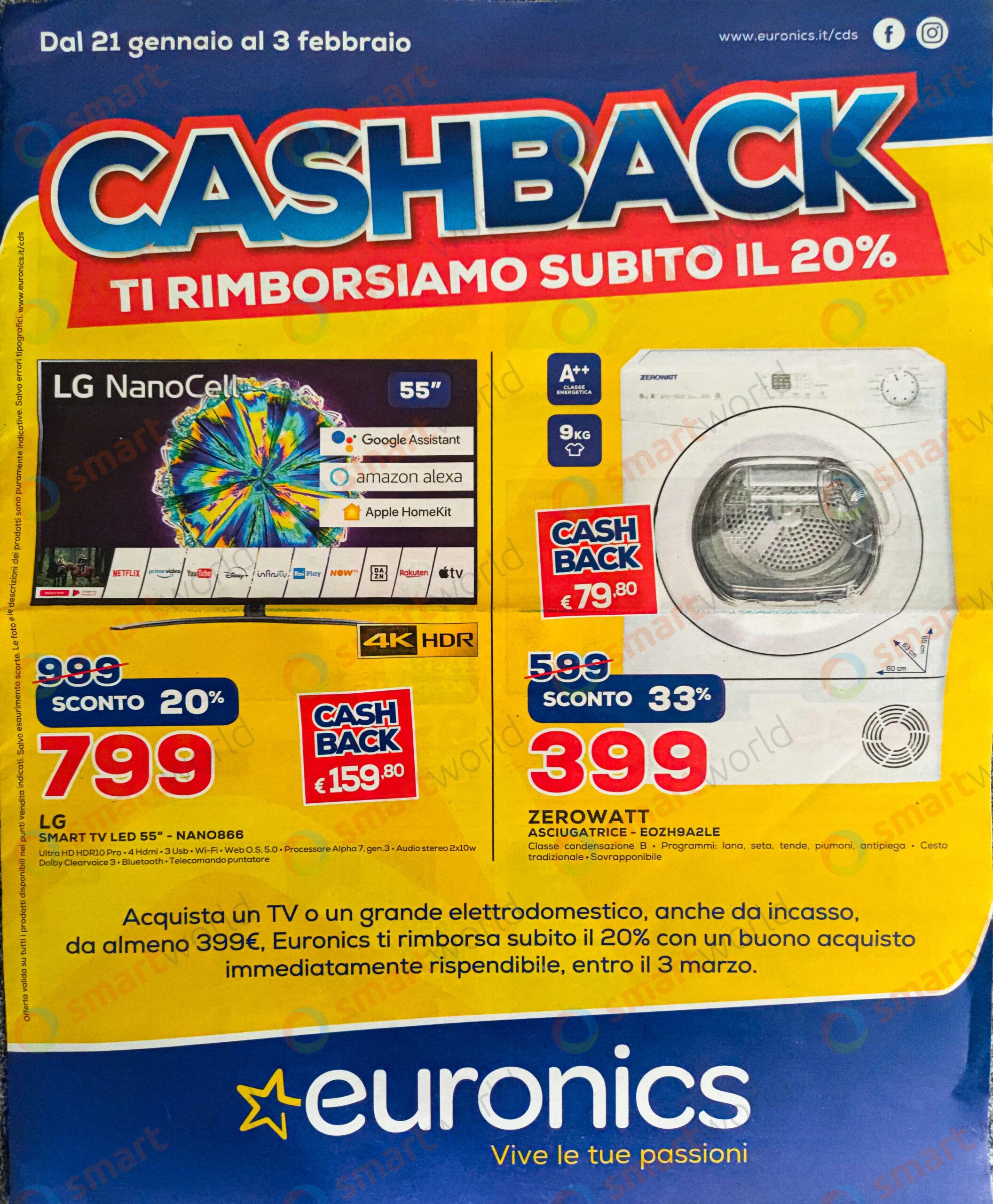 offerte euronics cashback