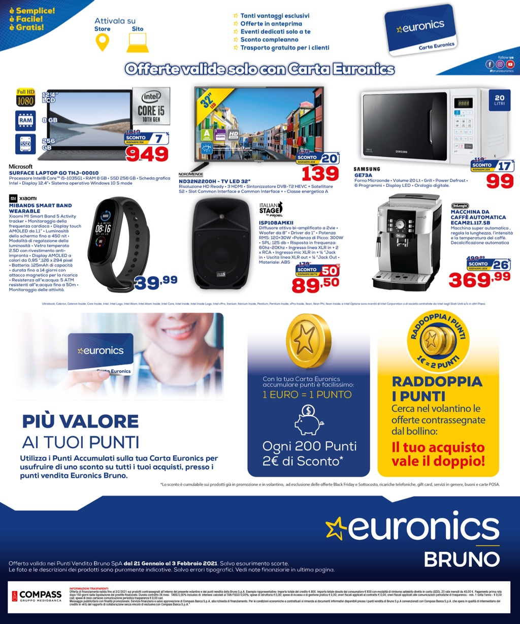 Ecco le migliori offerte tech dei volantini di Euronics (fino al 3 febbraio) 3