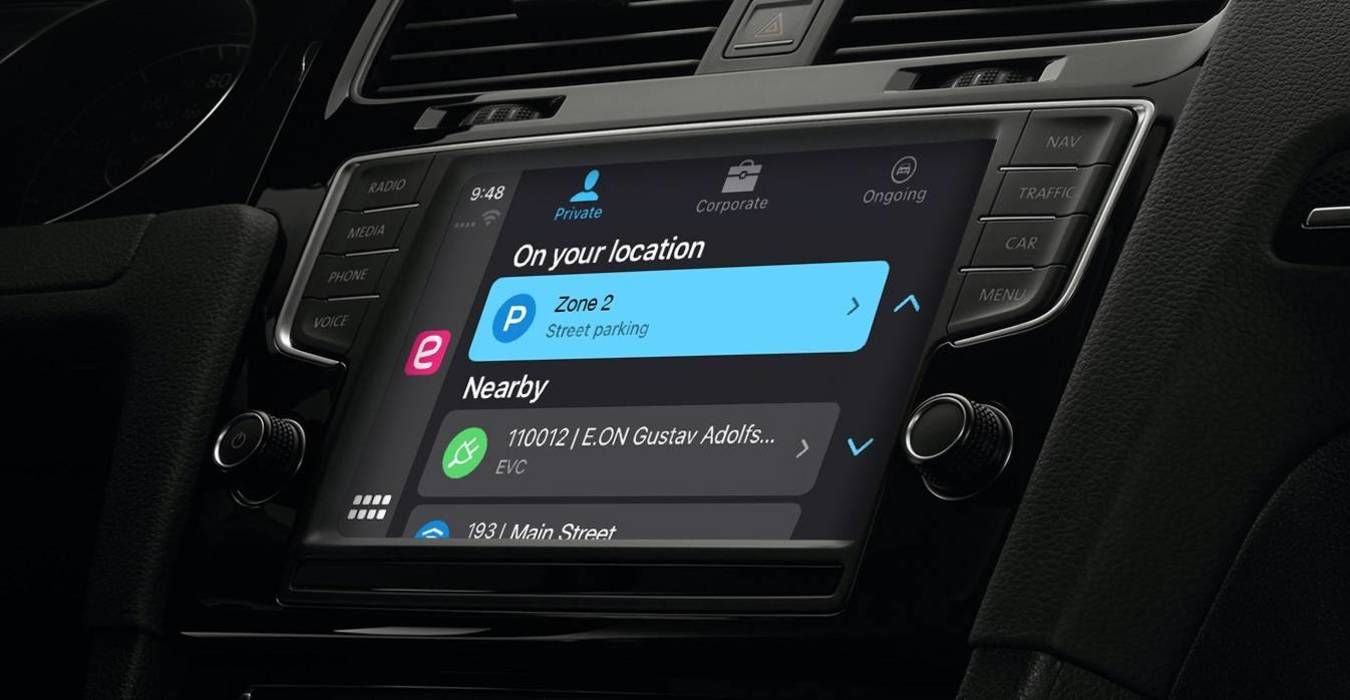 EasyPark sbarca su Apple CarPlay: la sosta si programma dal cruscotto 1