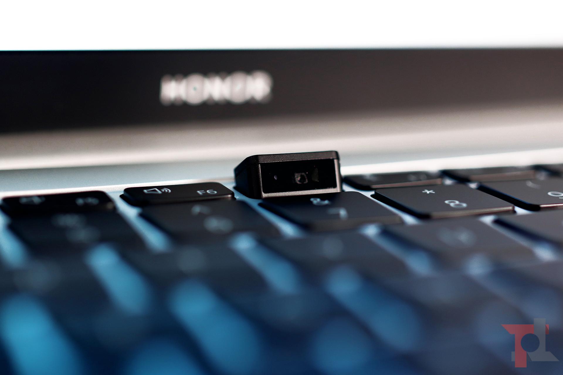 Honor MagicBook Intel camera