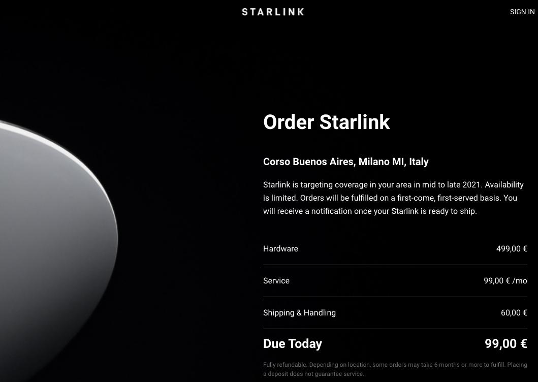 Starlink, la linea Internet satellitare di Elon Musk, arriva in Italia 1