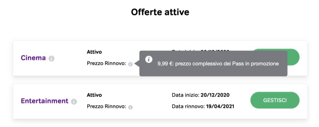 Pass Now TV Cinema e Entertainment a 9,99 euro dopo il rinnovo