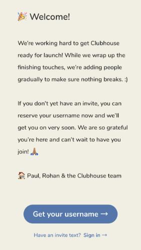 Come essere invitati su Clubhouse