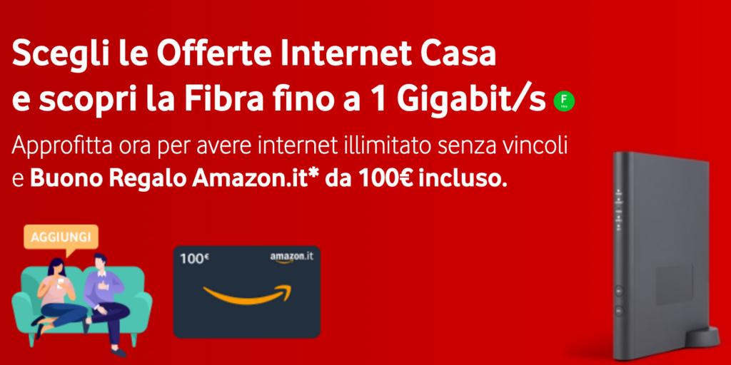 vodafone internet unlimited buono amazon 100 euro 26 28 febbraio 2021