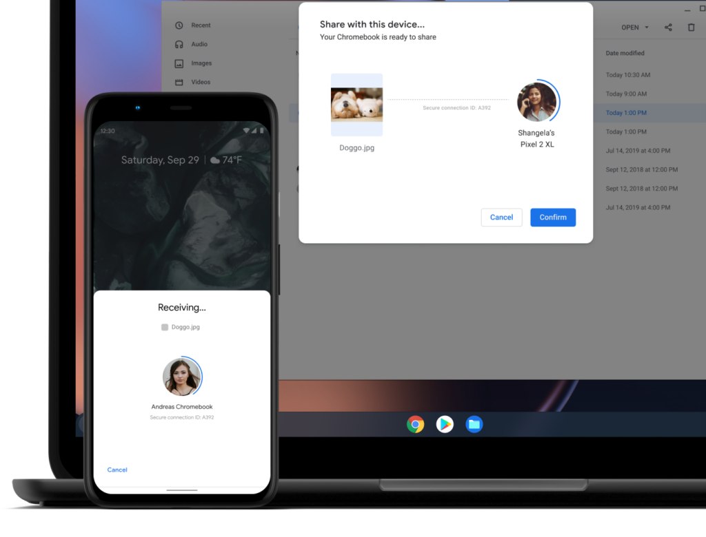 nearby share chromebook