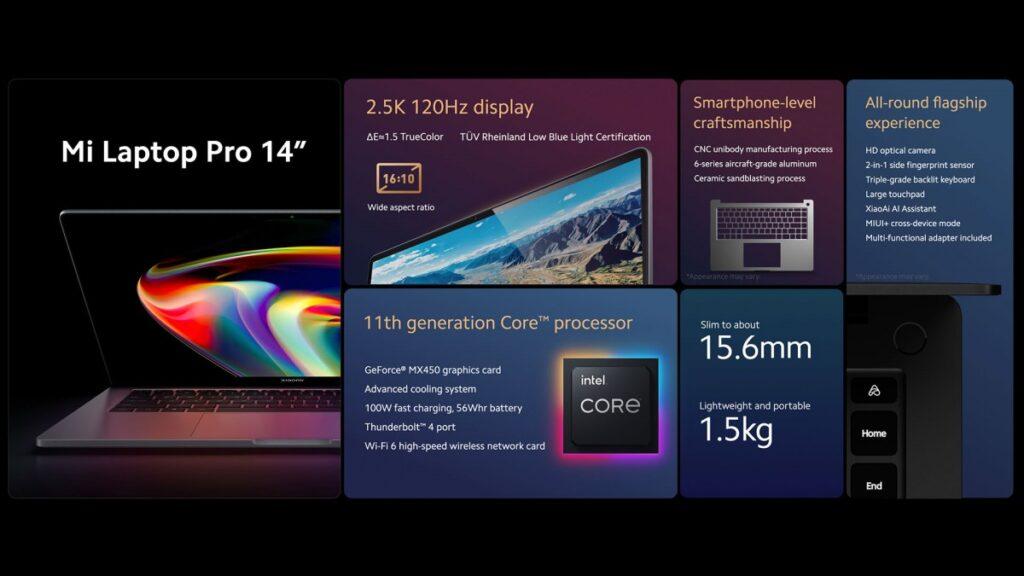 Xiaomi Mi Laptop Pro 14 scheda tecnica