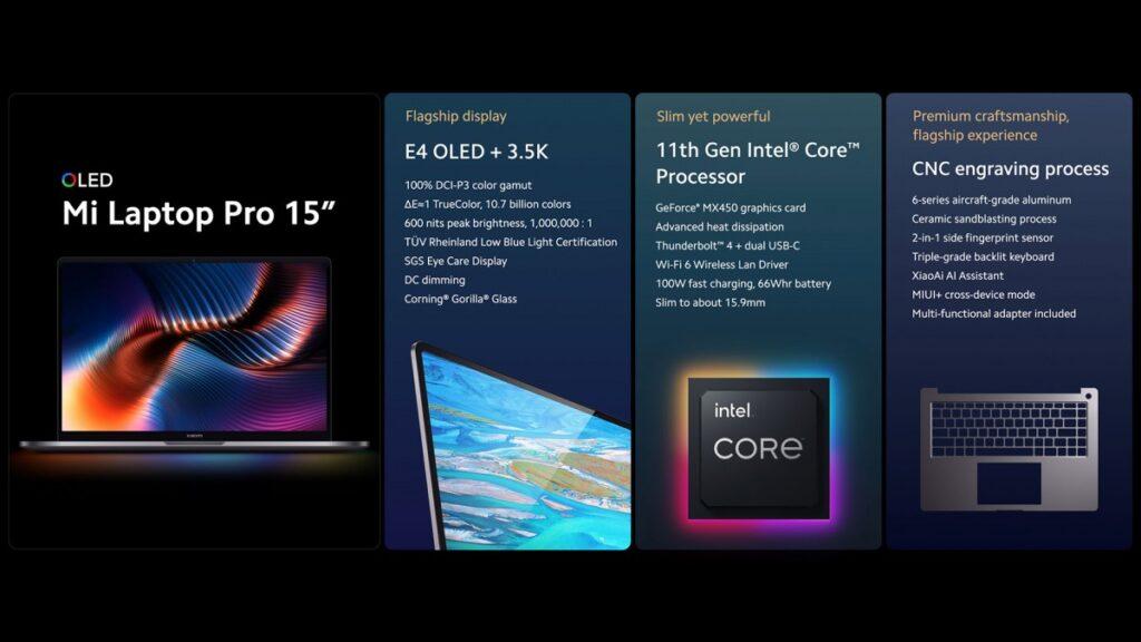 Xiaomi Mi Laptop Pro scheda tecnica