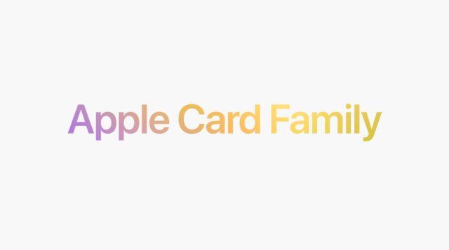 Apple Card Family