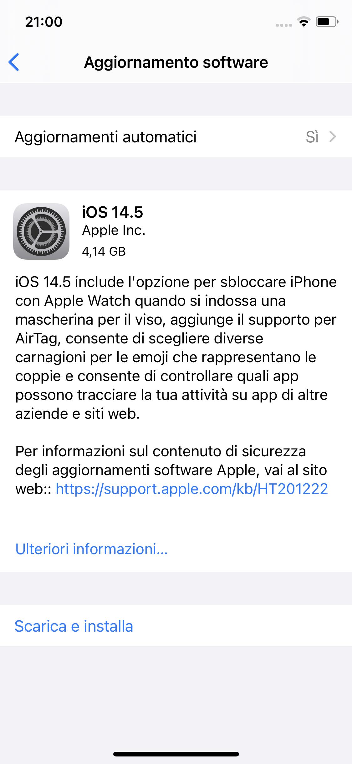 Apple pubblica la RC di iOS 14.5 e annuncia la data di rilascio di iOS 14.5, iPadOS, tvOS e watchOS 1