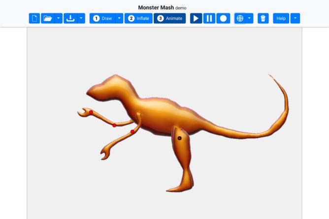Monster Mash permette di avvicinarsi al mondo dell'animazione 3D 2
