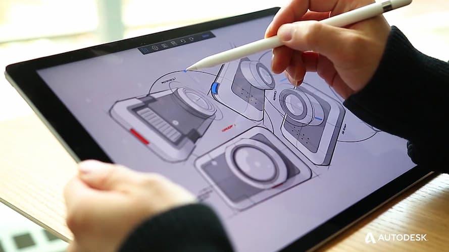 App per disegnare gratis: Autodesk Sketchbook