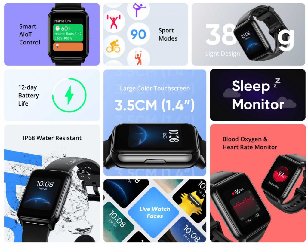 Realme presenta le cuffie TWS Buds Q2 e Realme Watch 2 2