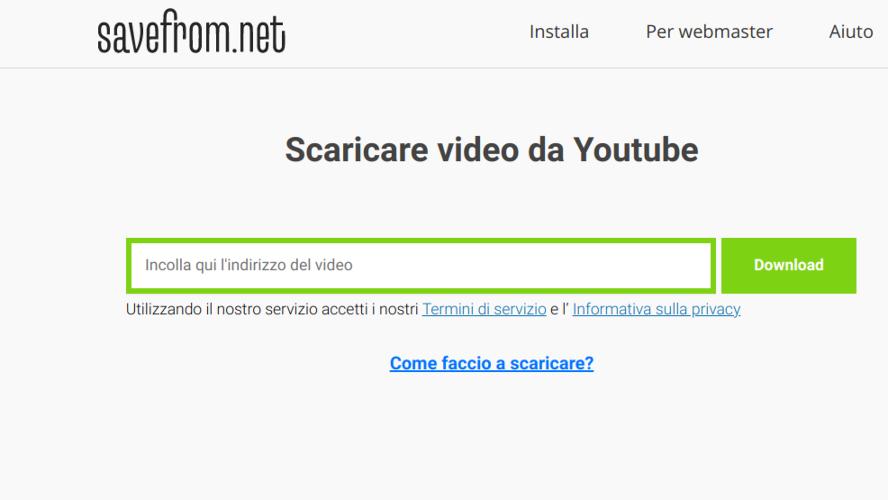 Come scaricare video da YouTube gratis con Savefrom.net