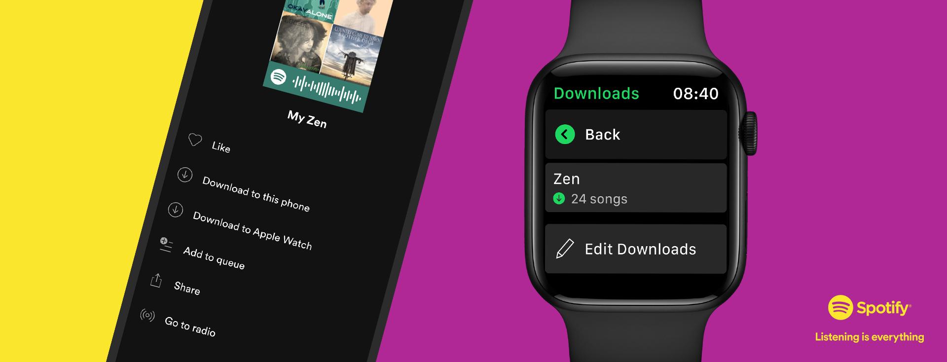 Apple Watch Spotify offline