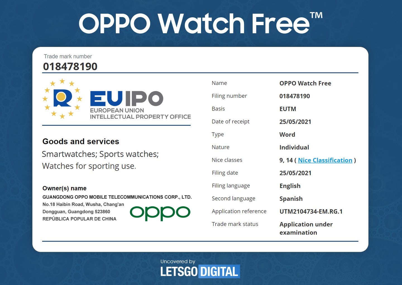 OPPO brevetta in Europa un nuovo smartwatch con funzionalità sportive 1