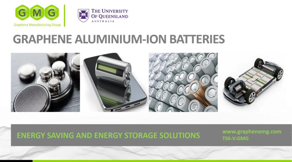 graphene manufacturing group batteria ioni di grafene alluminio