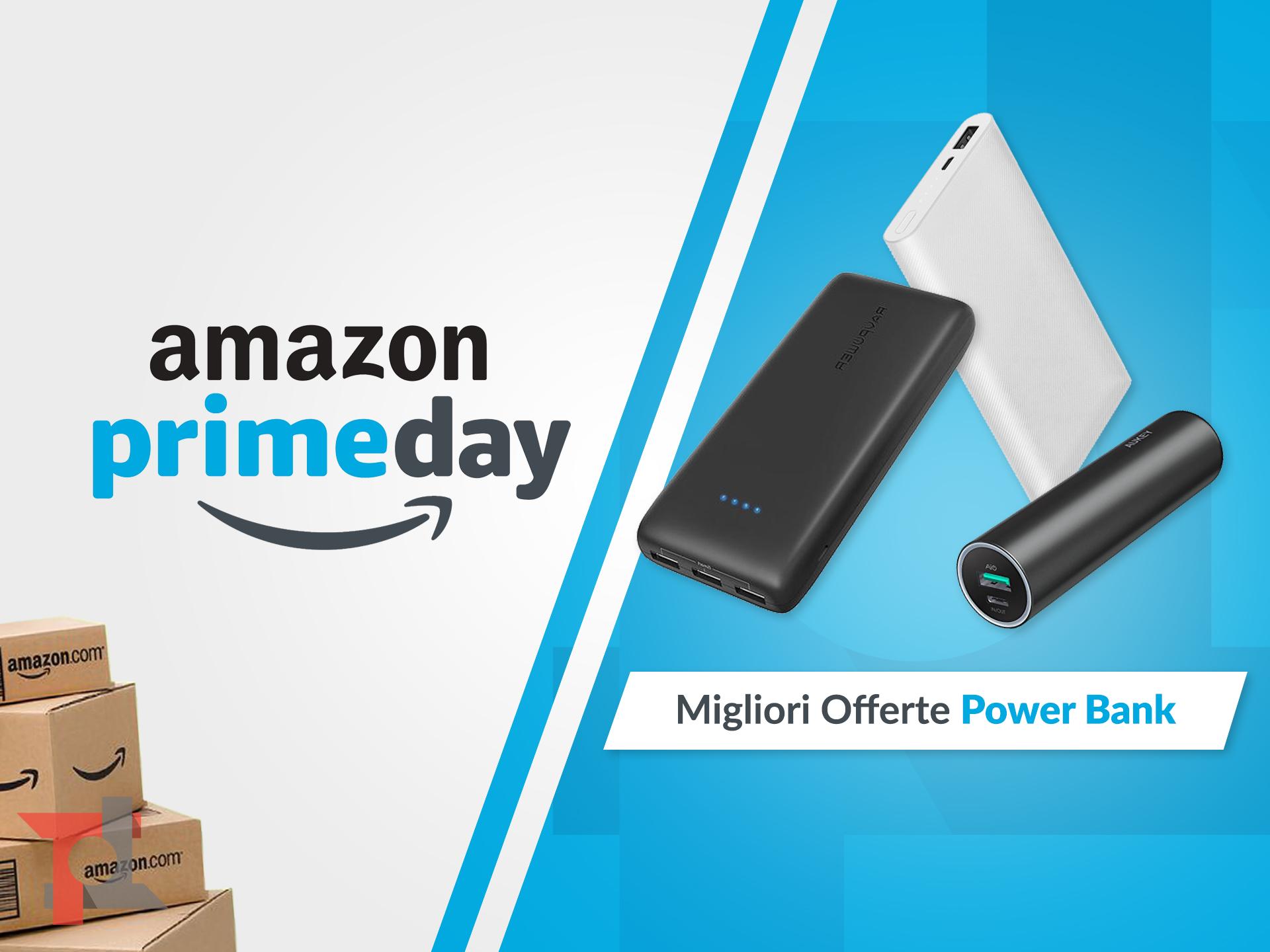 migliori offerte amazon prime day power bank