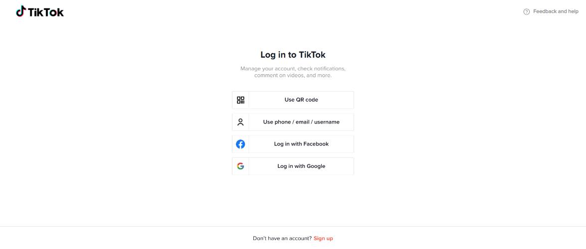Come vedere TikTok senza account 3