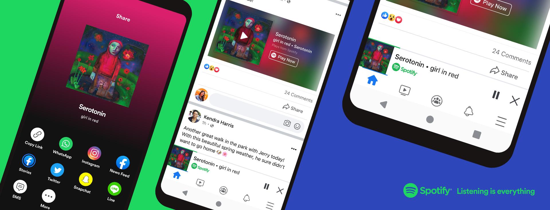 Facebook Spotify Miniplayer