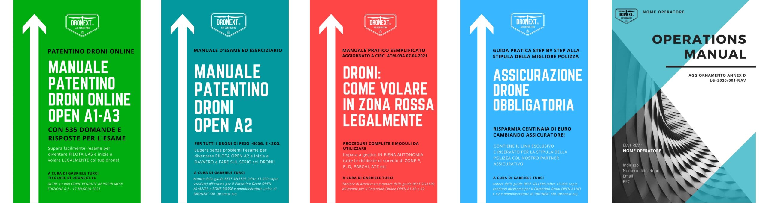 Dronex patentino Droni