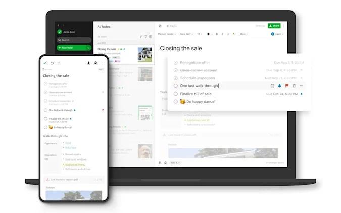Evernote aggiunge le attività per i progetti personali 1