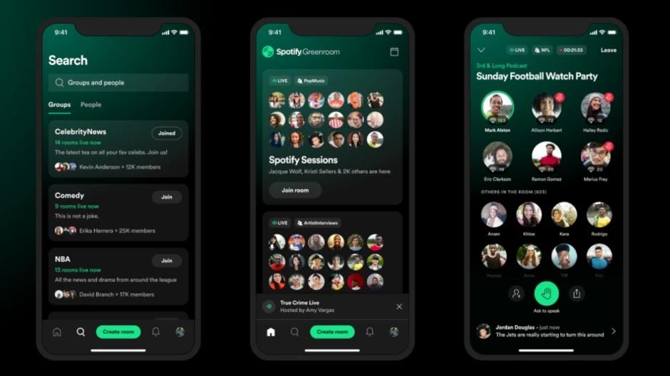 Spotify lancia Locker Room a livello globale come Greenroom 1