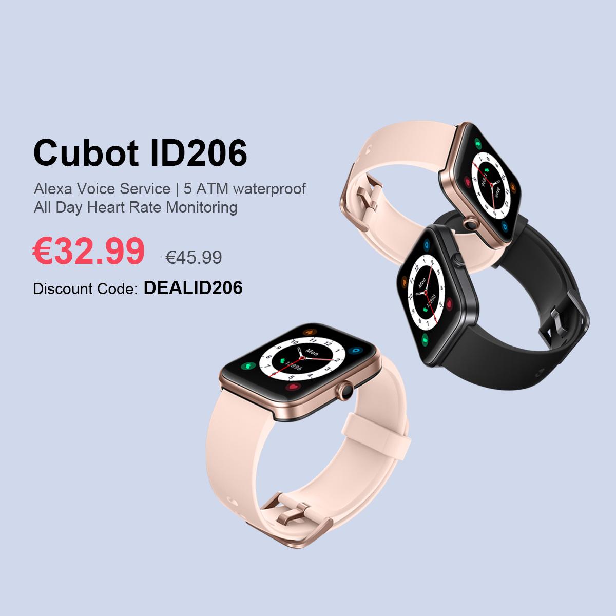 CUBOT ID206 è un nuovo smartwatch con Alexa già in promozione lancio 4