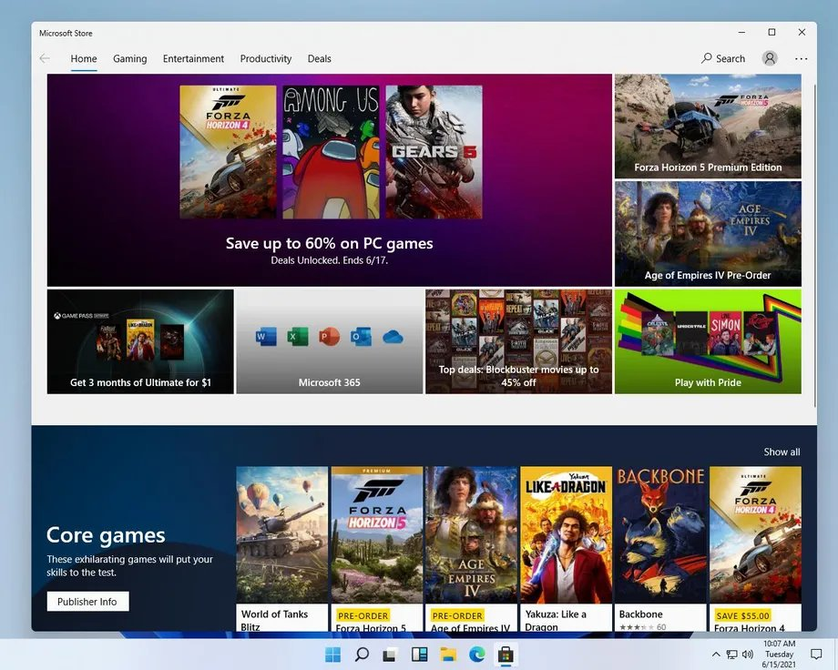 Windows 11 Microsoft Store
